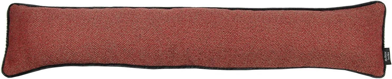 Red Unfilled Decorative Fabric Door Stop Soft Brushed TexturedGray Velvet Handle Doorstopper Book Stopper 8x6 Inches McAlister Textiles Boutique Herringbone