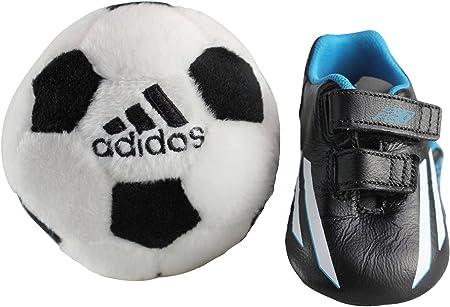 Adidas F50 Adizero Crib shoe D67463 Black Leather: Amazon.co.uk: Baby