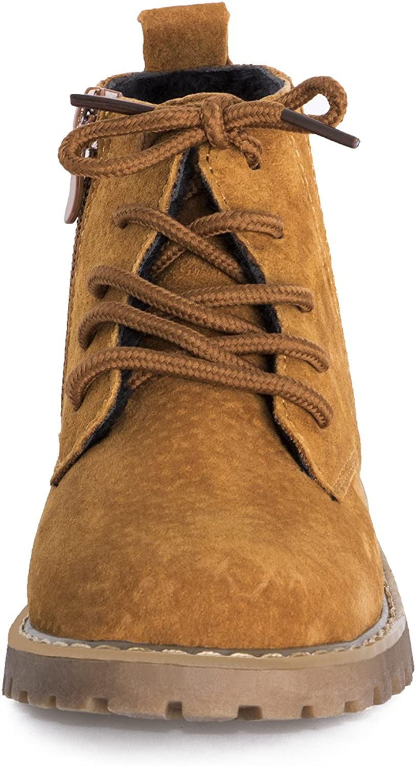 9M US Toddler, Brown DARONGFENG Toddler Kid Martin Boots Lace-up Short Ankle Shoes