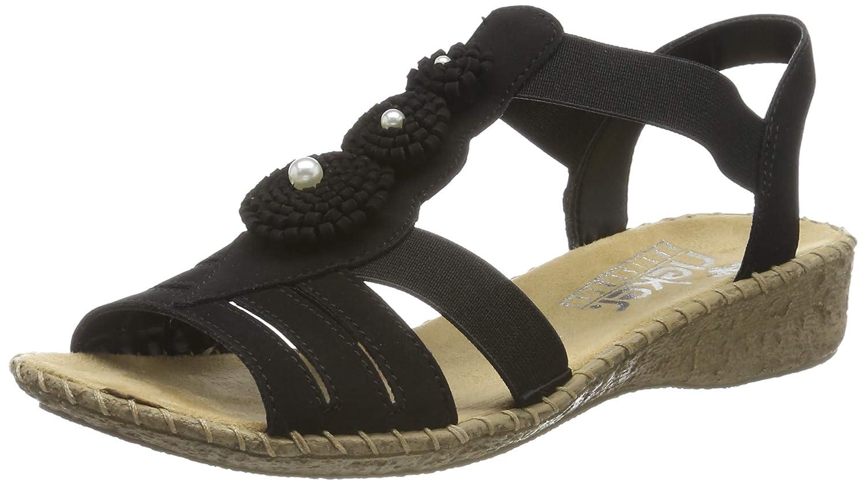 - Rieker Damen-Sandalette - F 1 2 black (1)