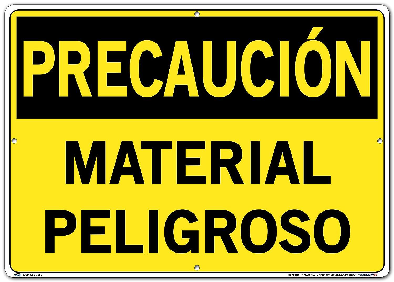 Vestil Caution Sign SI-C-44-E-PS-040-S Polystyrene .040 Overall Size 20.5W x 14.5H Hazardous Material Material PELIGROSO