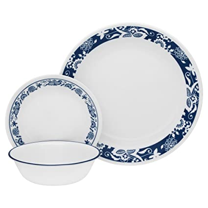 Corelle Livingware 16-Piece Dinnerware Set True Blue Service for 4  sc 1 st  Amazon.com & Amazon.com | Corelle Livingware 16-Piece Dinnerware Set True Blue ...