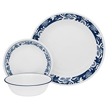 CORELLE Livingware 16-Piece Dinnerware Set True Blue Service for 4  sc 1 st  Amazon.ca & CORELLE Livingware 16-Piece Dinnerware Set True Blue Service for 4 ...