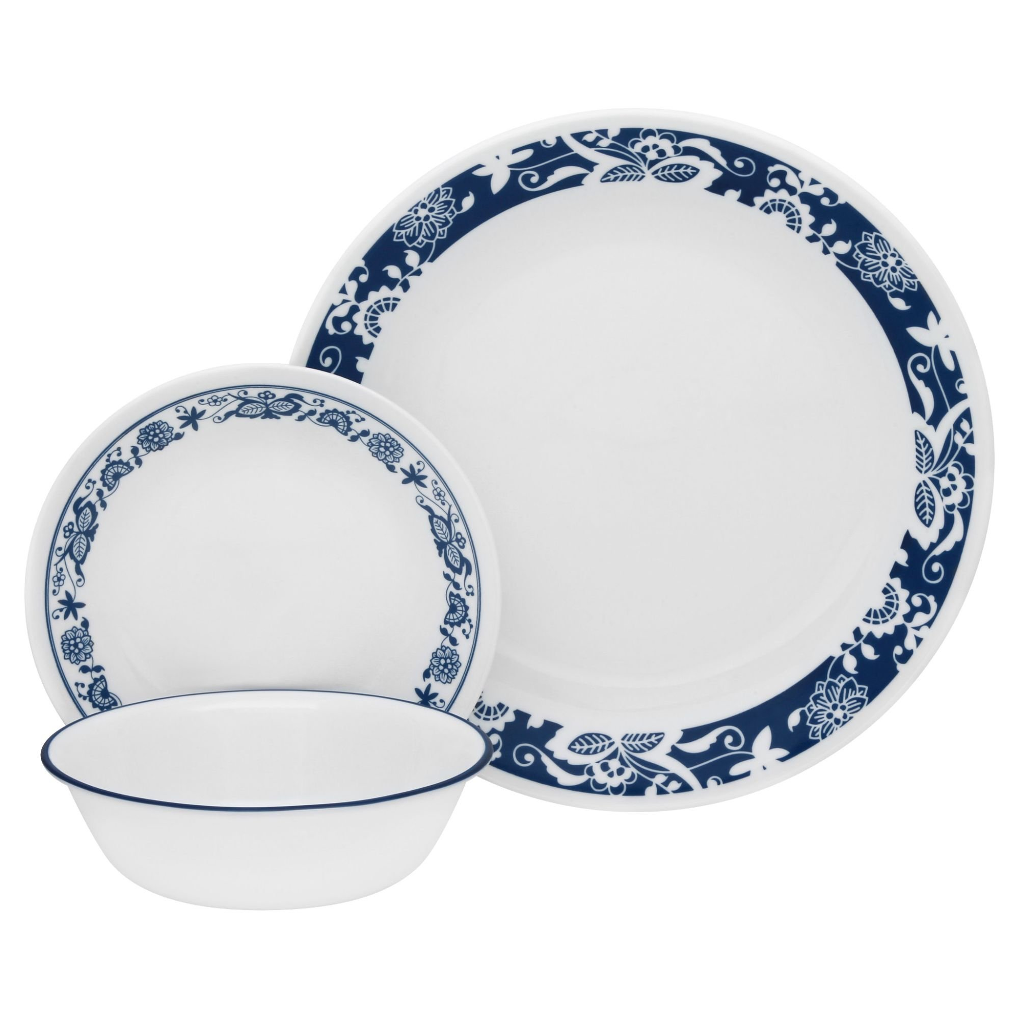 Corelle Livingware 16 piece Dinnerware Set, Service for 4, True Blue by Corelle