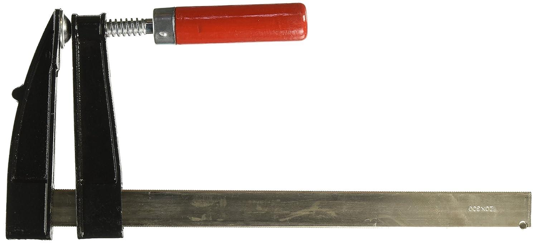 Ironside 820115 Schraubzwinge 120x300mm mit Holzheft/Stahlschiene, Mehrfarbig, 120 x 300 mm