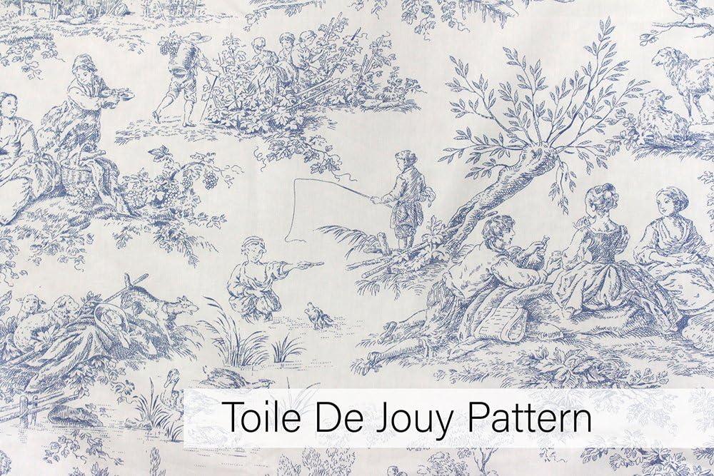 Bleu Coton Single Pillow Case Riva Paoletti Housewife Contes de Canterbury Taie doreiller