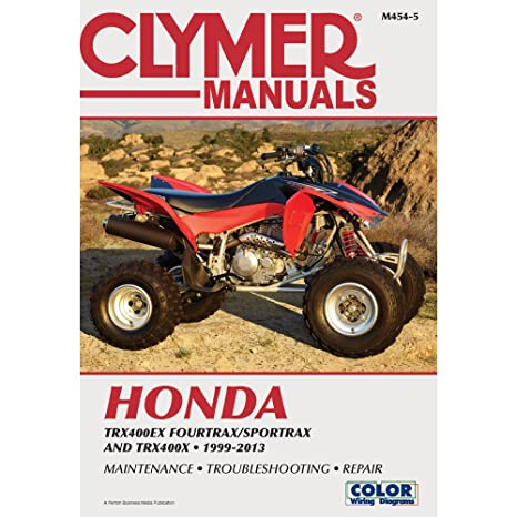 amazon com 99 08 honda trx400ex clymer service manual automotive rh amazon com 2001 honda 400ex owners manual pdf 2003 honda 400ex owners manual