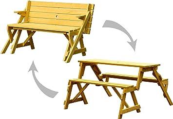Amazon De Dobar Praktische Garten Sitzbank 2 In 1 Kombination Aus