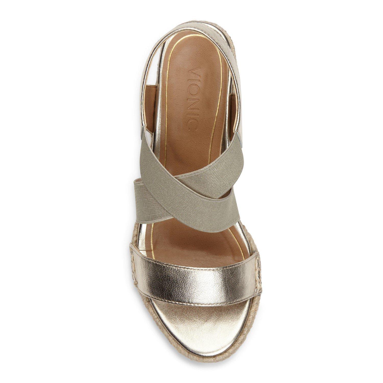 Vionic Tulum Ainsleigh - Womens Wedge Sandal Champagne - 9 Medium