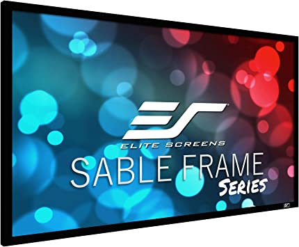 Elite Screens Sable Frame Series 120 Inch Diagonal 16 9 Sound Transparent Perforated Weave Fixed Frame Projection Projector Screen Er120wh1 A1080p3 Home Audio Theater