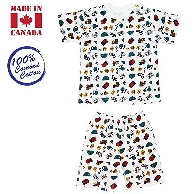 Vals Kids 2-piece, T-Shirt & Elastic Shorts, 5 Years, Camping
