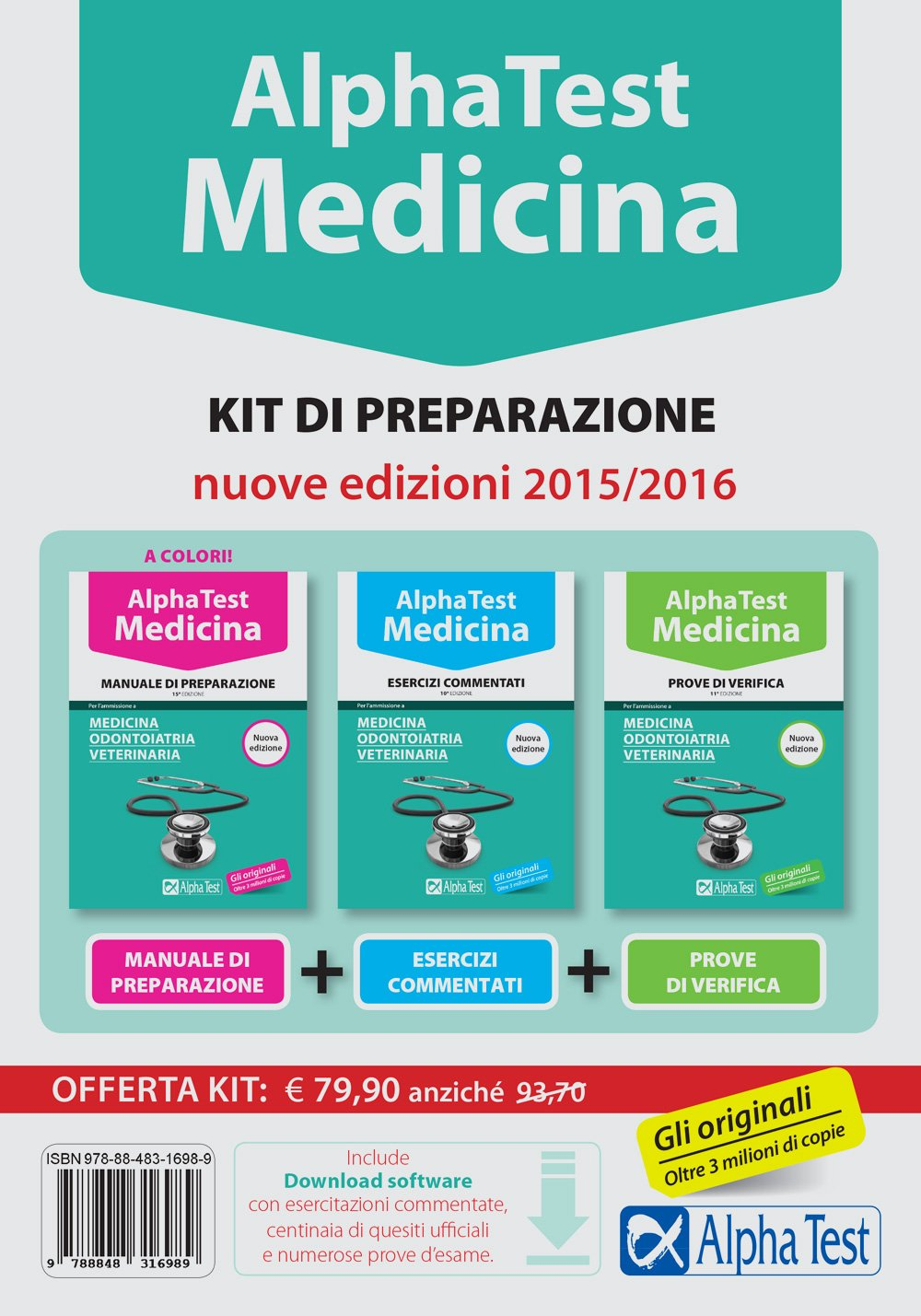 Alpha test. Medicina, odontoiatria, veterinaria. Kit di preparazione. Con  test di simulazione: 9788848316989: Amazon.com: Books