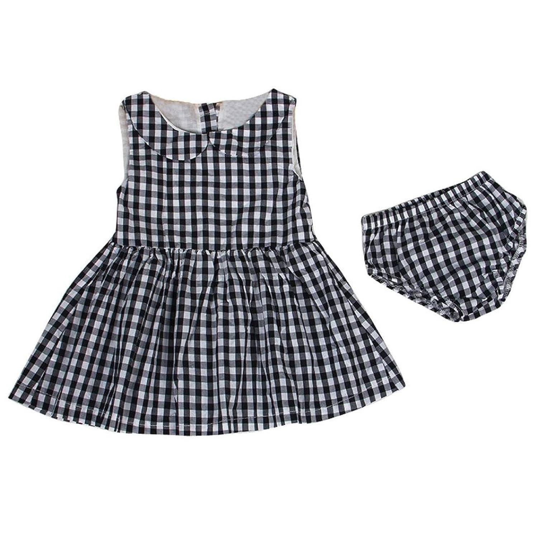 1pc robe + 1pc shorts pour 12-24 mois fille, Transer Bébé filles robe sans manches + shorts pantalons tenue vêtements