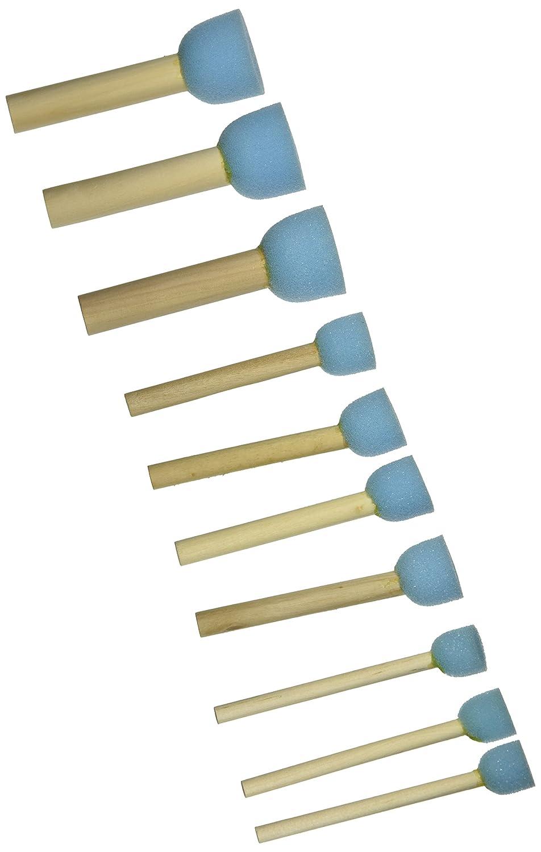 Sponge Stippler Set, (3) 1/4, (4) 3/4, (3) 1, 1/4, 10/pkg Luscombe (3) 1/4 (4) 3/4 1/4