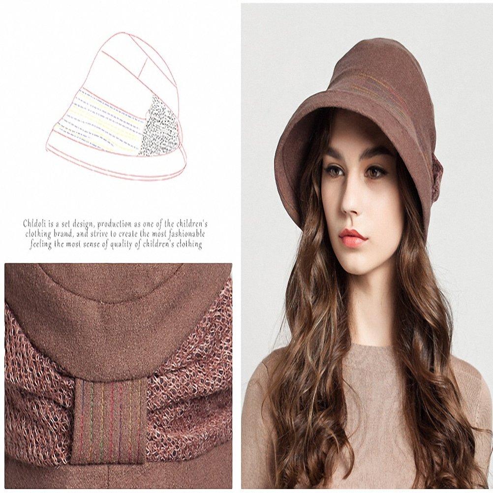 Maitose Trade; Frauen Dekorative Bow Wool Bucket Hat