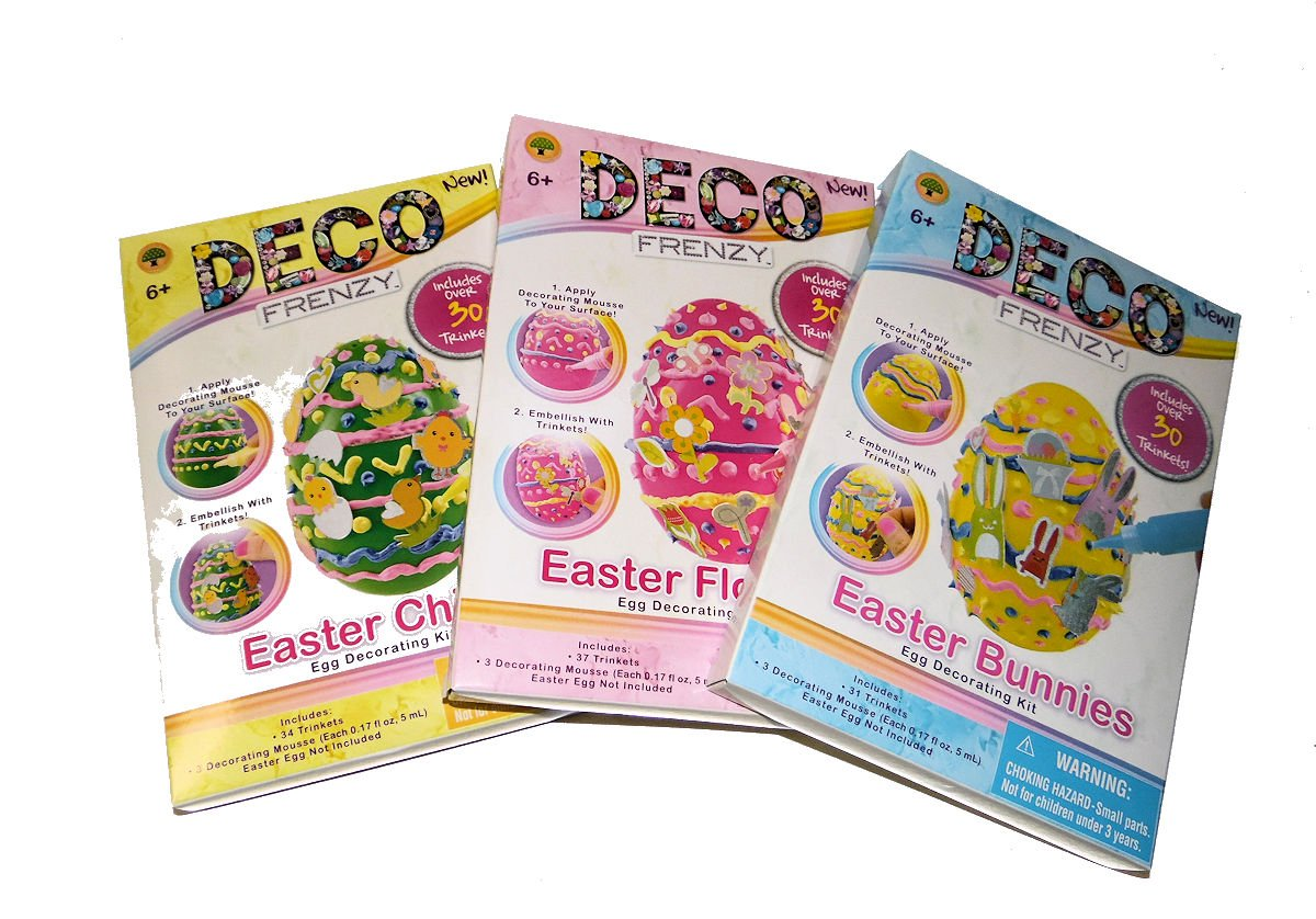 Easter Bunnies Easter Egg Decorating Kits by Deco Frenzy Easter Flowers and Easter Chicks Multiple
