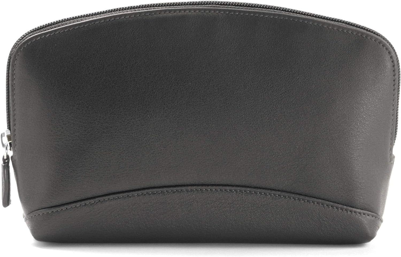 Leatherology Black Onyx Large Cosmetic Bag