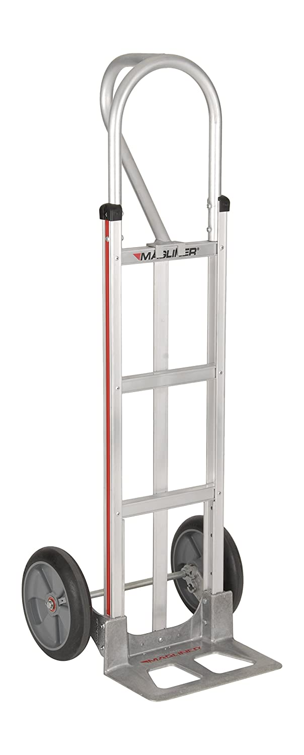 Magliner Hmk25aaab Aluminum Hand Truck Straight Frame With Vertical Strap Vertical Loop Handle 14 X 7 1 2 Aluminum Diecast Nose Plate 500 Lb Capacity Silver Amazon Com Industrial Scientific