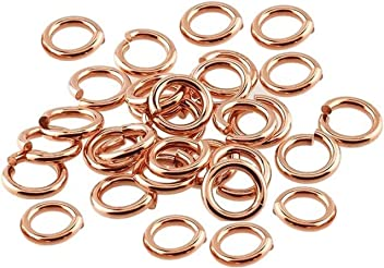 RED BRASS JUMP RING 20 GA WIRE 6 MM O//D 200 P SAW CUT 1//2 OZ