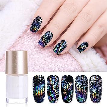 Amazon Nicole Diary 9ml Galaxy Star Nail Foil Glue White Nail