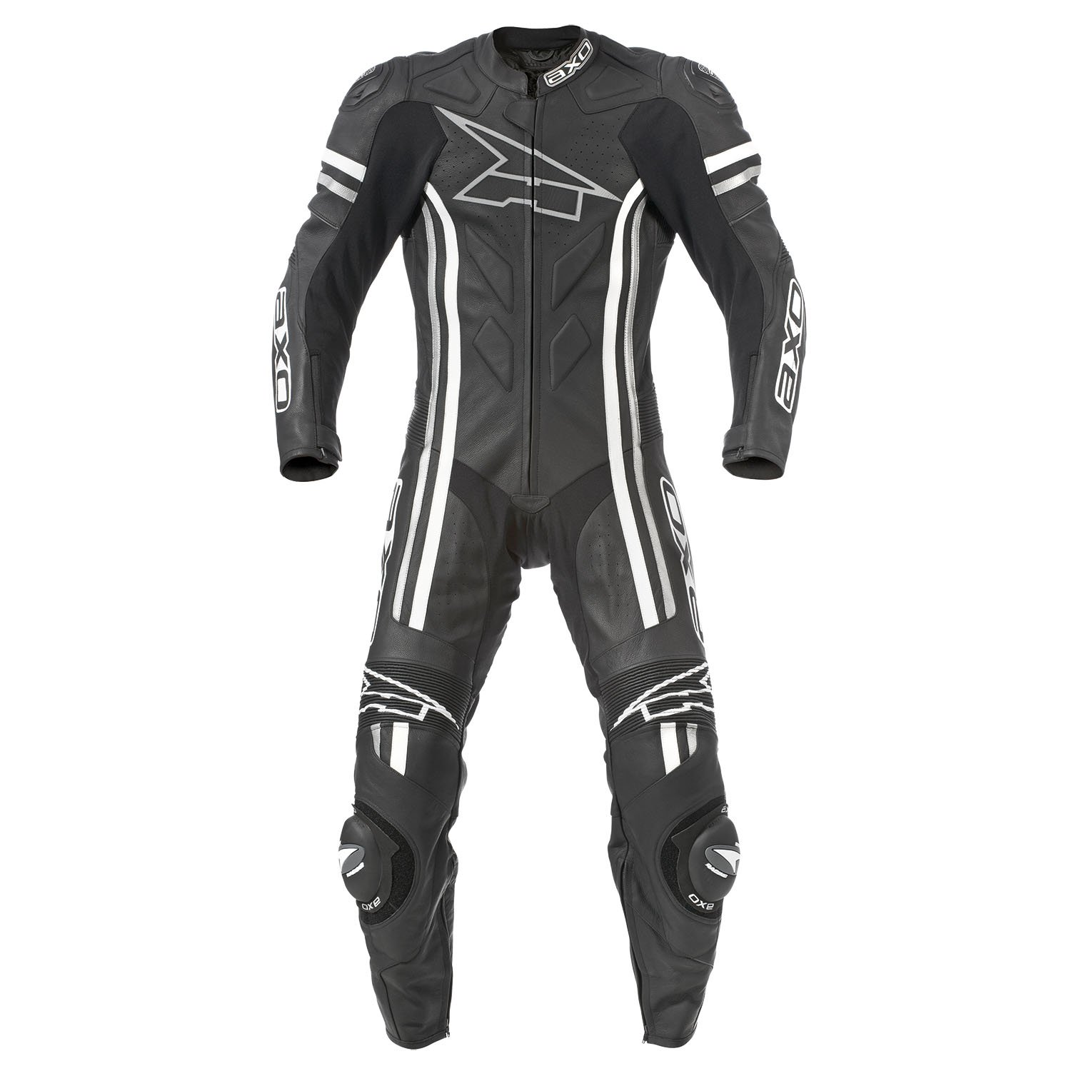 AXO Indy Men's Leather Suit (Black, Size EU 60/Size US 50)