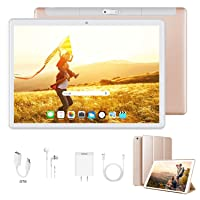 Tablet 10 Inch, Dual 4G LTE, 5G WiFi, Quad-Core, Android 9.0 Tablet PC, 3GB RAM...