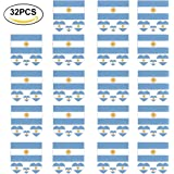 IFA World Cup 2018 Russia 32 Pcs Temporary Tattoos Body Face Stickers for Football Soccer Fans Watching Game
