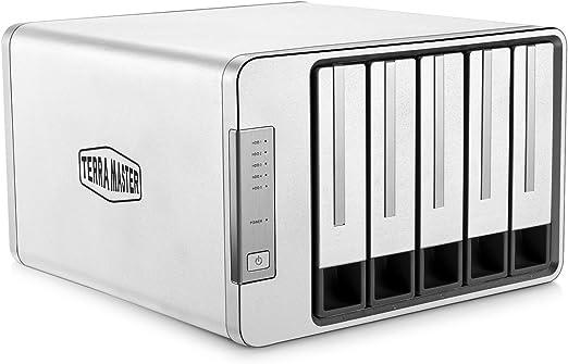 TERRAMASTER D5-300 Tipo C USB3.0 5Gbps 5 Bahía Raid5 Caja Disco Duro Externo (Sin Disco): Amazon.es: Electrónica