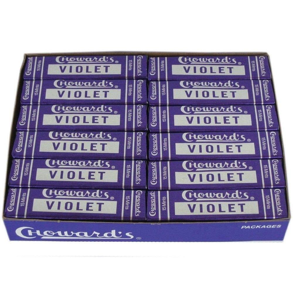 C. Howard Violet Mints 15 pcs 12 Count by C. Howerds