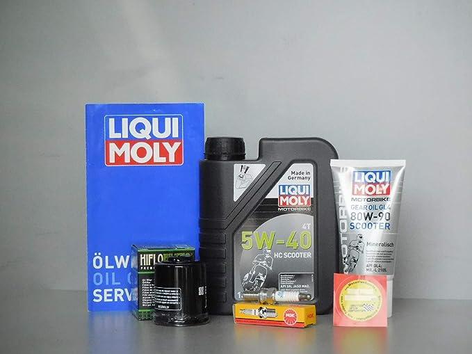 MotorFunSports - Juego de Mantenimiento para Piaggio Zip 125 (Filtro de Aceite, bujía, inspección, Cambio de Aceite): Amazon.es: Coche y moto