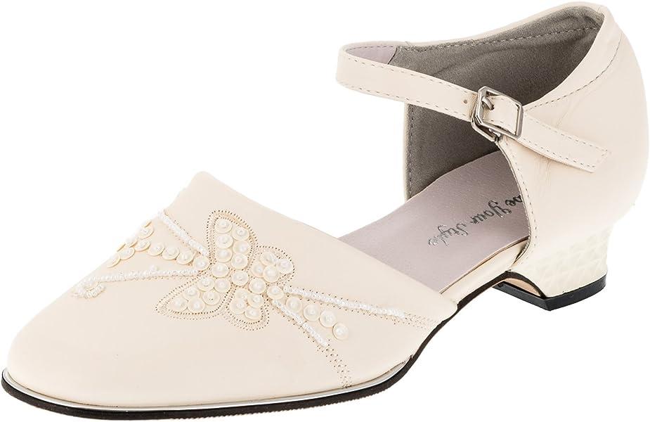 super beliebt 7e1a1 c9b9a Festliche Damen Mädchen Schuhe Pumps Ballerinas Absatz Perlen Schmetterling