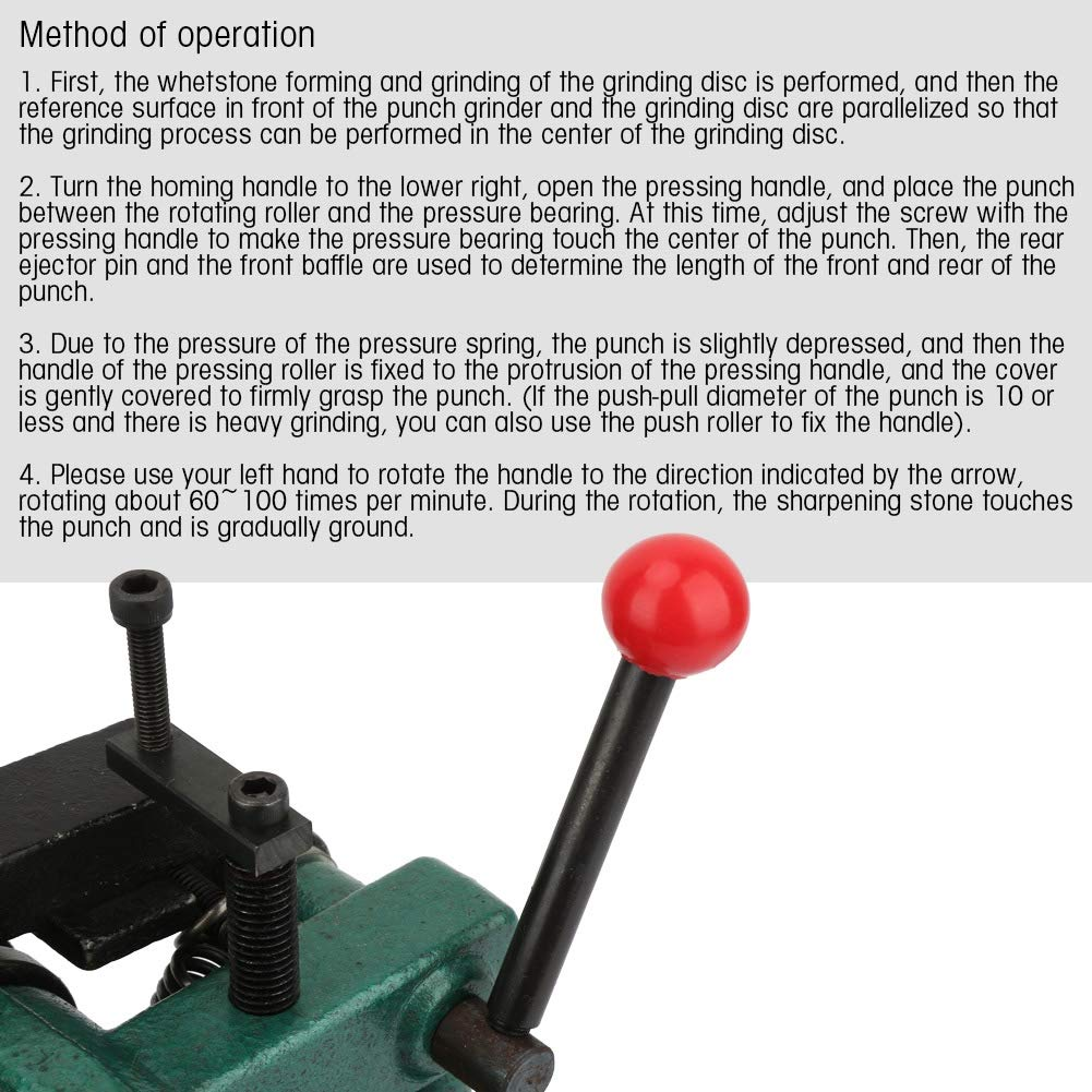 Acogedor Punch Grinder with Pressing Roller, Manual Punch Grinding Machine Precision 5um Punch Grinder,High Precision,Double Roller Design,with Plastic Box by Acogedor (Image #4)