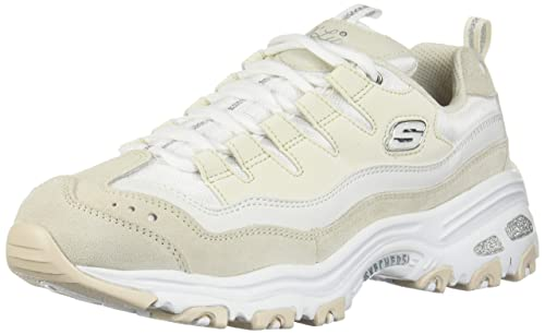 Skechers D'Lites Sure Thing Donna Bianco/Natural Sneaker ...