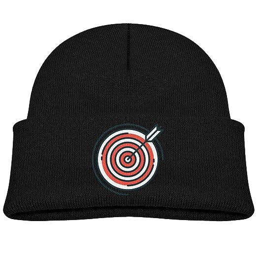 e41e8d77b2f4b Amazon.com  Kids Beanie Knit Hat Vintage Style Target Cute Warm Cotton Soft  Cap Black  Clothing