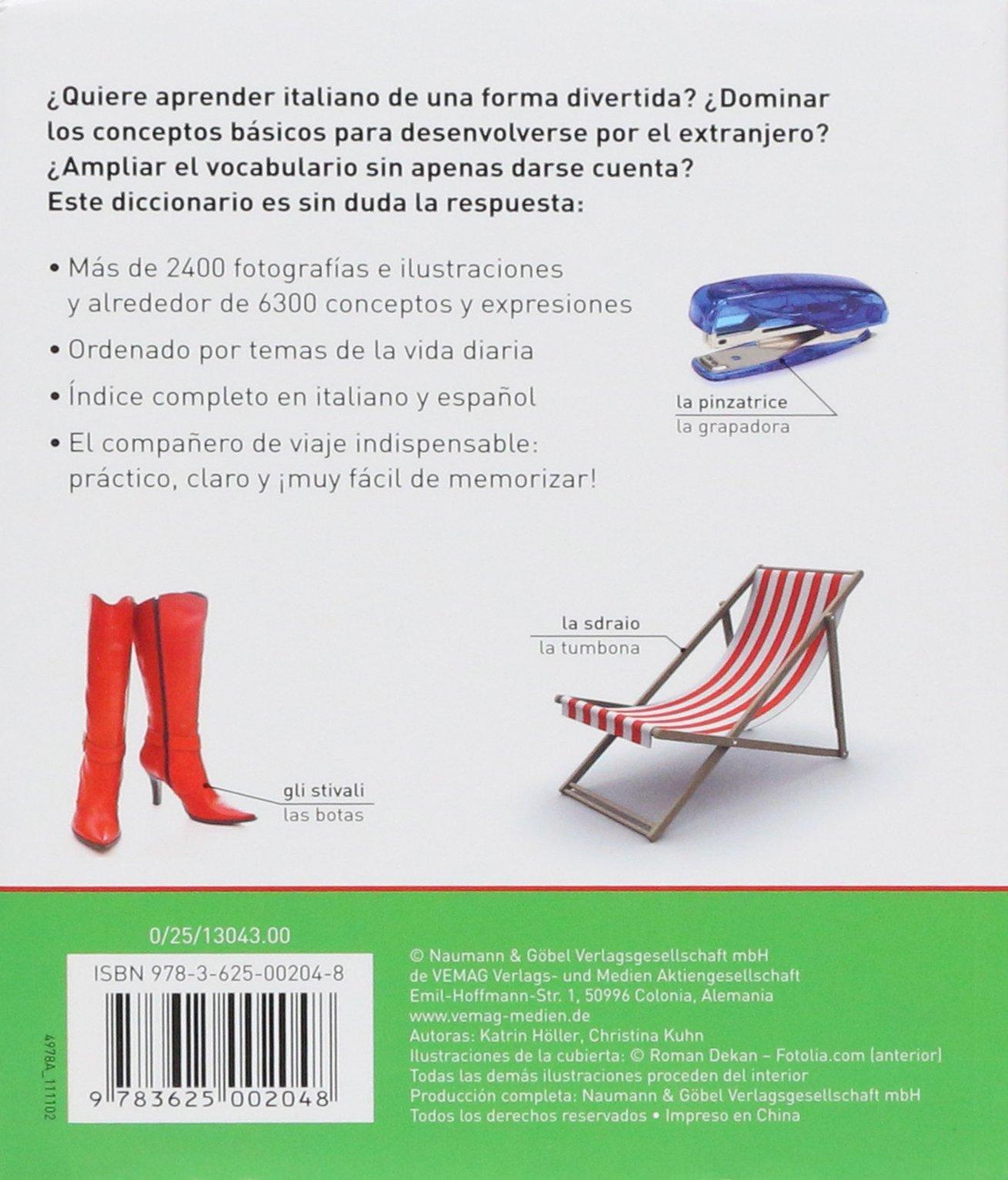 DICCIONARIO VISUAL ITALIANO-ESPA OL: Varios: 9783625002048: Amazon.com: Books