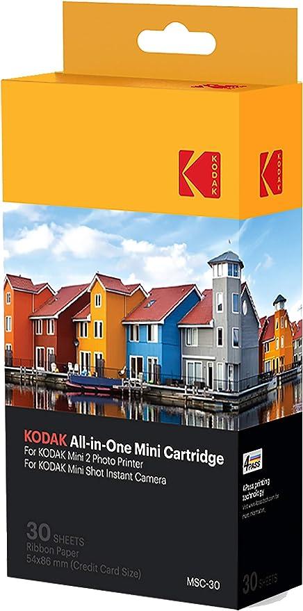 Oferta amazon: Kodak–Cartucho Mc impresión fotográfica mini, todo en uno, tinta y papel, lote de 30, compatible con cámara Mini Shot, impresora Mini 2, Paquete Surtido