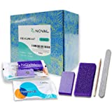 NOVAL Disposable Nail Salon Manicure Pedicure Set Kit Foot for Nail Beauty,4- Piece Including Nail File 80/100 Grit…