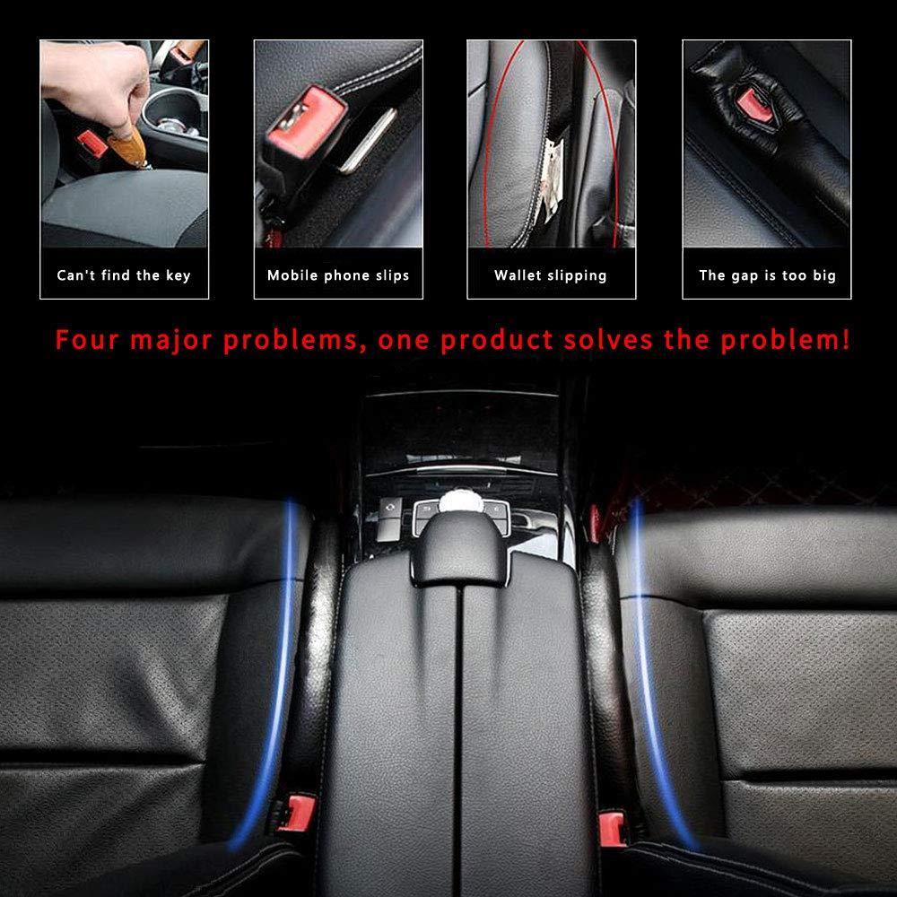Per Leon auto Seat Seggiolino Gap stopper Pad Impedire agli oggetti di cadere mano slot Plug filler Leakproof Pelle PU Accessori per auto 2 pezzi Bianco