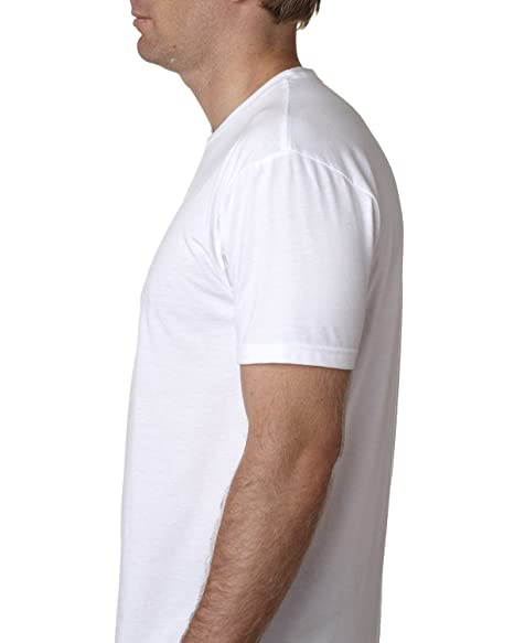 Next Level Apparel Mens CVC Crewneck Jersey T-Shirt, Wht, Large | Amazon.com