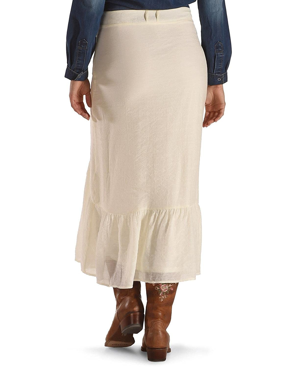e893ff013b5 Wrangler Women s Skirt with Buttons Down Front Vanilla X-Large   Amazon.co.uk  Clothing