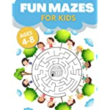 Fun Mazes For Kids Ages 4-8: Keep Your Little One Busy, Entertained and Educated. Easy-to-Challenging Workbook for…