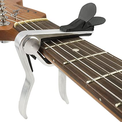 Amazoncom Mrpowe Guitar Capo With Pick Holder For Acoustic
