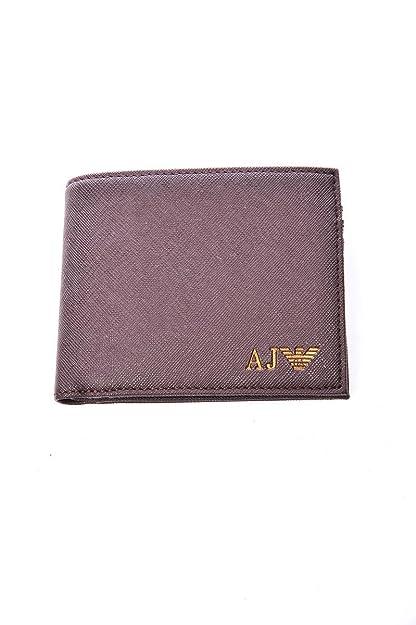 Armani Jeans monedero cartera bifold de hombre nuevo marrón: Amazon.es: Zapatos y complementos