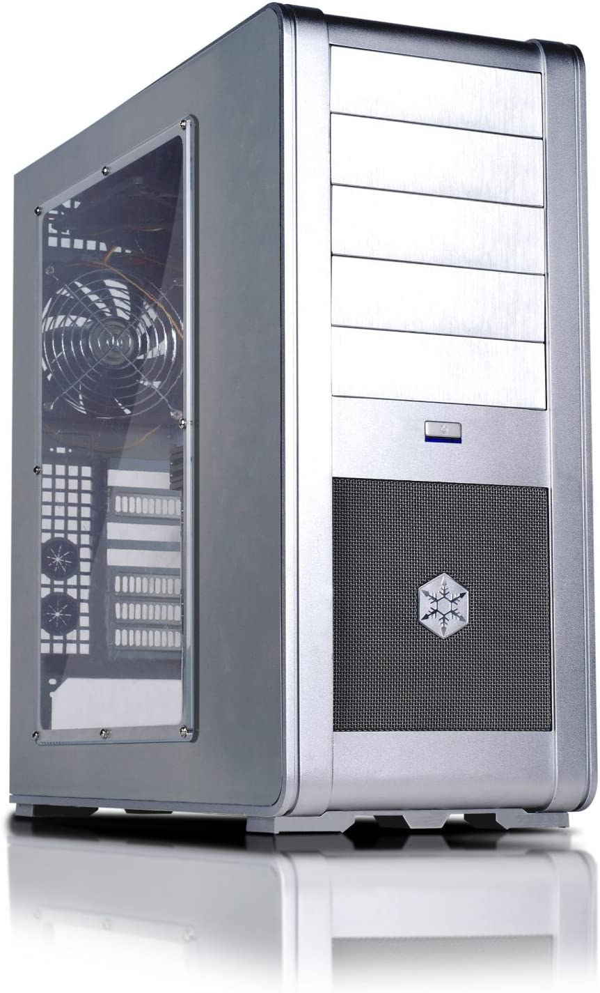 SilverStone FT01S-W Aluminum ATX Mid Tower Uni-Body Computer Case with Window Side Panel - Retail (Silver) [並行輸入品]