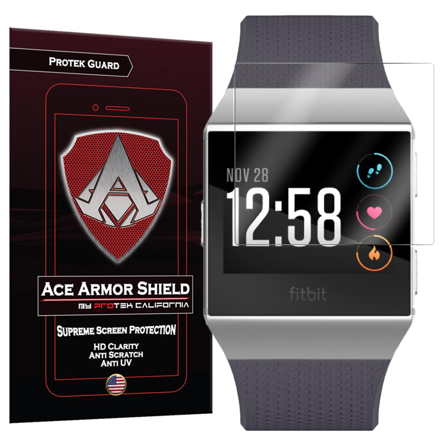 Ace Armor Shield screen protector for Fitbit Ionic Smartwatch 6 pack