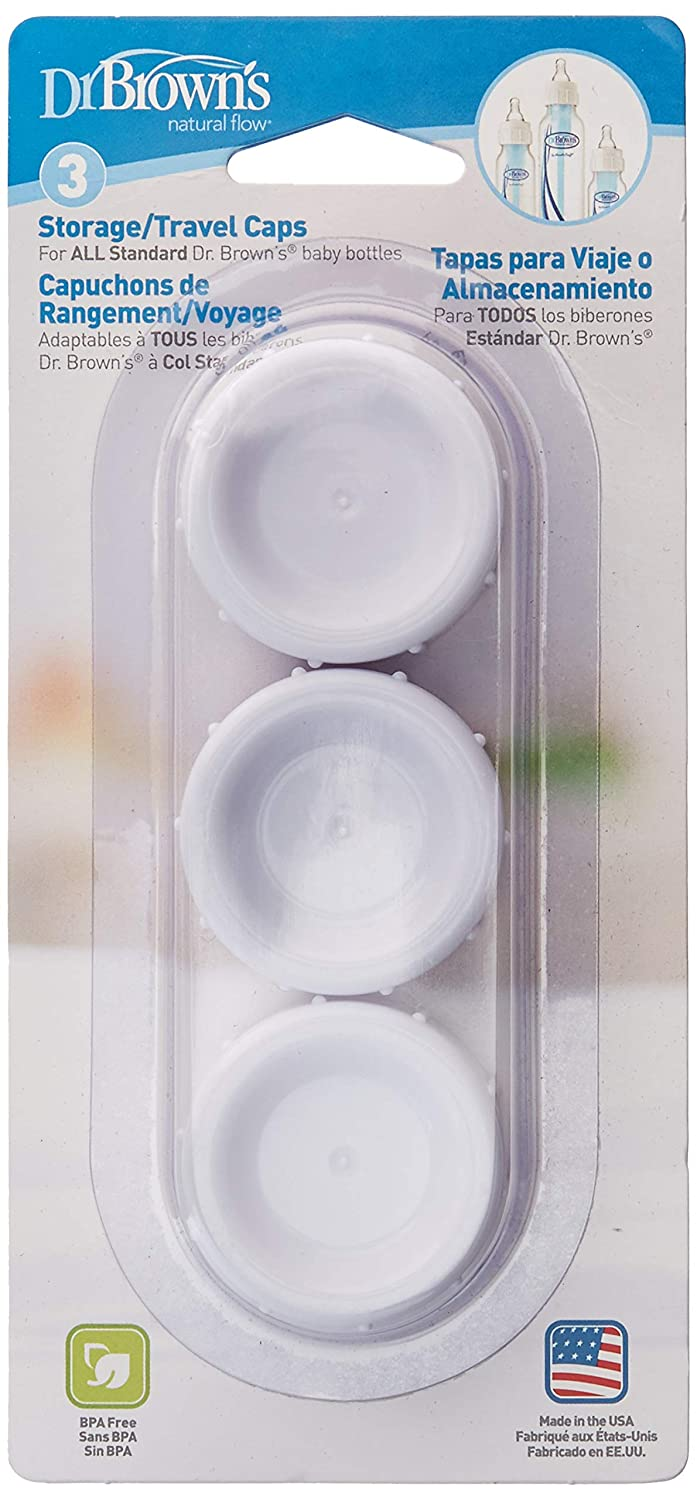 6 Pack Dr Browns Natural Flow Standard Storage Travel Caps Replacement