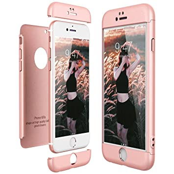 CE-Link Funda para Apple iPhone 6 6S Rigida 360 Grados ...