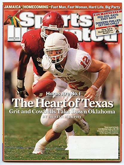 SI Sports Illustrated October 20 2008 The Heart Of Texas Colt McCoy VG