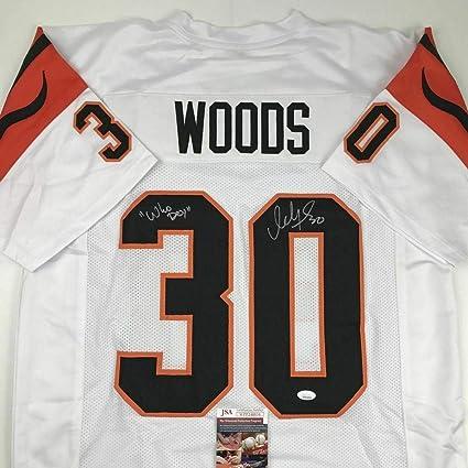 Signed Ickey Woods Jersey - Who Dey White COA - JSA