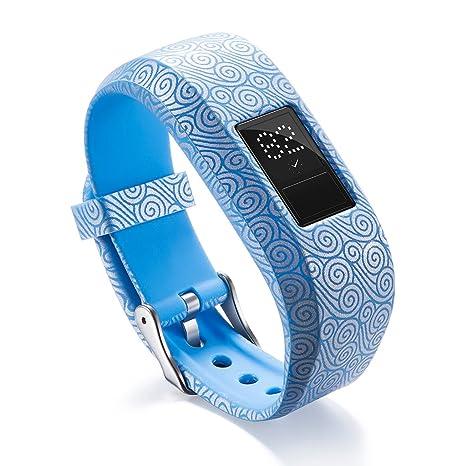 GROOMY Correa de Reloj de Silicona Suave Garmin VivoFit JR / JR2 Junior Activity Tracker -